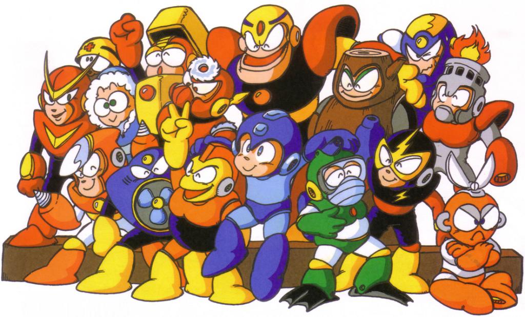 Megaman 1 and Megaman 2 Robot Masters