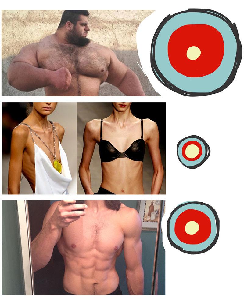 tone defined muscle fat